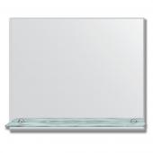Зеркало настенное с полочкой (60х50 см). Прямоугольное, с фацетом 5 мм.
