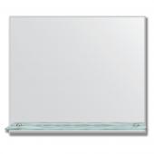 Зеркало настенное с полочкой (70х60 см). Прямоугольное, с фацетом 5 мм.