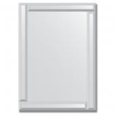 Зеркало с зеркальным обрамлением (серебро) 50х70 см. Серия V-1.