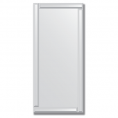 Зеркало с зеркальным обрамлением (серебро) 50х110 см. Серия V-1.