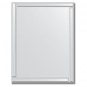 Зеркало с зеркальным обрамлением (серебро) 70х90 см. Серия V-1.