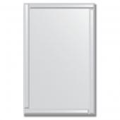 Зеркало с зеркальным обрамлением (серебро) 70х110 см. Серия V-1.