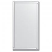 Зеркало с зеркальным обрамлением (серебро) 70х130 см. Серия V-1.