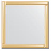 Зеркало с зеркальным обрамлением (бронза) 70х70 см. Серия V-1.