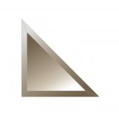 Зеркальная плитка с фацетом 10 мм (бронза) (треугольник 15х15 см)