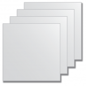 Зеркальная плитка без фацета (серебро) (квадрат 20х20 см) - комплект 4 шт.