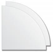 Зеркальная плитка без фацета (серебро) (четверть круга 20х20 см) - комплект 2 шт.