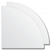 Зеркальная плитка без фацета (серебро) (четверть круга 25х25 см) - комплект 2 шт.