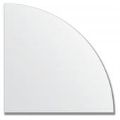Зеркальная плитка без фацета (серебро) (четверть круга 30х30 см).