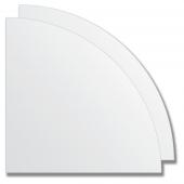 Зеркальная плитка без фацета (серебро) (четверть круга 30х30 см) - комплект 2 шт.