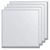 Зеркальная плитка с фацетом 5 мм (серебро) (квадрат 25х25 см) - комплект 4 шт.