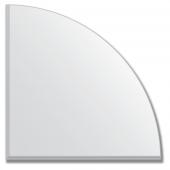 Зеркальная плитка с фацетом 5 мм (серебро) (четверть круга 30х30 см)