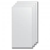 Зеркальная плитка с фацетом 5 мм (серебро) (30х60 см) - комплект 4 шт.