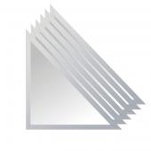 Зеркальная плитка с фацетом 15 мм (серебро) (треугольник 15х15 см) - комплект 6 шт.