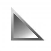 Зеркальная плитка с фацетом 10 мм (графит) (треугольник 15х15 см)