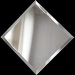 Зеркальная плитка с фацетом 10 мм.