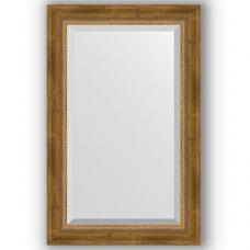 Зеркало настенное 53х83 см в багетной раме - состаренная бронза с плетением 70 мм.