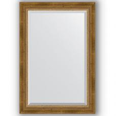 Зеркало настенное 63х93 см в багетной раме - состаренная бронза с плетением 70 мм.