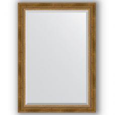 Зеркало настенное 73х103 см в багетной раме - состаренная бронза с плетением 70 мм.