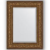 Зеркало настенное 60х80 см в багетной раме - виньетка состаренная бронза 109 мм.