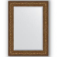 Зеркало настенное 80х110 см в багетной раме - виньетка состаренная бронза 109 мм.