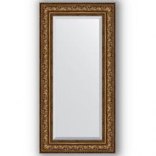 Зеркало настенное 60х120 см в багетной раме - виньетка состаренная бронза 109 мм.