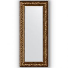 Зеркало настенное 60х140 см в багетной раме - виньетка состаренная бронза 109 мм.