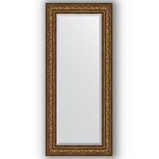 Зеркало настенное 65х150 см в багетной раме - виньетка состаренная бронза 109 мм.