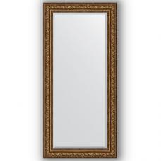 Зеркало настенное 80х170 см в багетной раме - виньетка состаренная бронза 109 мм.
