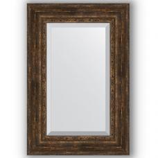 Зеркало настенное 62х92 см в багетной раме - состаренное дерево с орнаментом 120 мм.