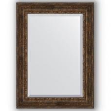 Зеркало настенное 82х112 см в багетной раме - состаренное дерево с орнаментом 120 мм.