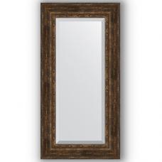 Зеркало настенное 62х122 см в багетной раме - состаренное дерево с орнаментом 120 мм.