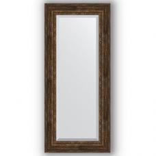 Зеркало настенное 67х152 см в багетной раме - состаренное дерево с орнаментом 120 мм.