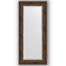 Зеркало настенное 72х162 см в багетной раме - состаренное дерево с орнаментом 120 мм.