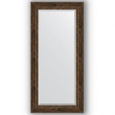 Зеркало настенное 82х172 см в багетной раме - состаренное дерево с орнаментом 120 мм.