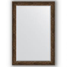 Зеркало настенное 122х182 см в багетной раме - состаренное дерево с орнаментом 120 мм.
