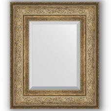 Зеркало настенное 50х60 см в багетной раме - виньетка античная бронза 109 мм.