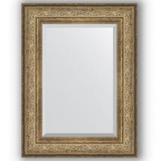 Зеркало настенное 60х80 см в багетной раме - виньетка античная бронза 109 мм.