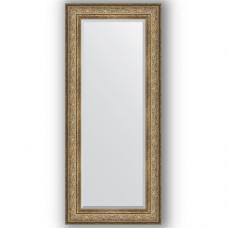 Зеркало настенное 65х150 см в багетной раме - виньетка античная бронза 109 мм.