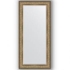 Зеркало настенное 80х170 см в багетной раме - виньетка античная бронза 109 мм.