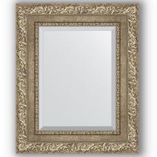 Зеркало настенное 45х55 см в багетной раме - виньетка античное серебро 85 мм.