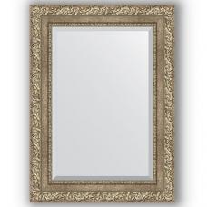 Зеркало настенное 55х75 см в багетной раме - виньетка античное серебро 85 мм.