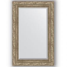 Зеркало настенное 55х85 см в багетной раме - виньетка античное серебро 85 мм.