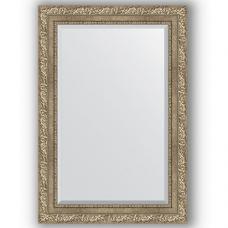 Зеркало настенное 65х95 см в багетной раме - виньетка античное серебро 85 мм.