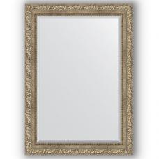 Зеркало настенное 75х105 см в багетной раме - виньетка античное серебро 85 мм.