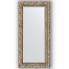 Зеркало настенное 55х115 см в багетной раме - виньетка античное серебро 85 мм.