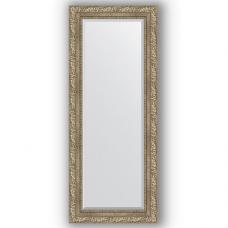 Зеркало настенное 55х135 см в багетной раме - виньетка античное серебро 85 мм.