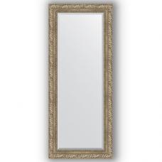 Зеркало настенное 60х145 см в багетной раме - виньетка античное серебро 85 мм.