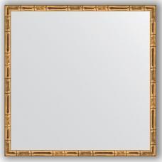 Зеркало настенное 57х57 см в багетной раме - золотой бамбук 24 мм.