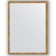 Зеркало настенное 57х77 см в багетной раме - золотой бамбук 24 мм.